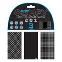 Oxford Comfy Neck Tube 3 Pack - Tartan Black / White
