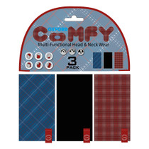 Oxford Comfy Neck Tube 3 Pack - Plaid