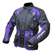 ARMR Moto Kiso 2 Ladies Jacket - Black / Plum