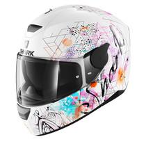 Shark D-SKWAL Anyah helmet - White / Black / Pink