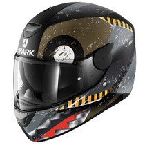 Shark D-SKWAL Saurus helmet - Matt Black / Green