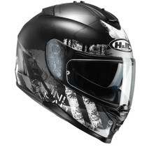 HJC IS-17 Shapy Helmet - Black / White