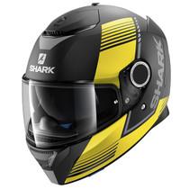 Shark Spartan Arguan Mat Helmet - Matt Black / Yellow