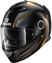 Shark Spartan Carbon Silicium Helmet - Black / Orange