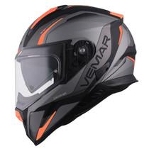 Vemar Zephir Lunar Helmet - Matt Silver / Orange