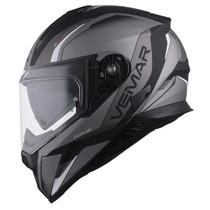 Vemar Zephir Lunar Helmet - Matt Silver / Black