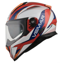 Vemar Zephir Lunar Helmet - Red / White / Orange / Blue