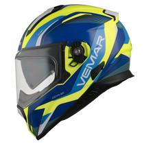 Vemar Zephir Lunar Helmet - Flu. Yellow / Blue