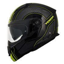 Vemar Sharki Hive Helmet - Matt Black / Flu. Yellow