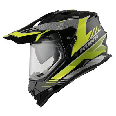 Vemar Kona Explorer Helmet - Matt Black / Flu Yellow