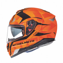 MT Atom Divergence Flip Front Helmet - Flu Orange