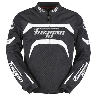 Furygan Arrow Vented Jacket - Black / White