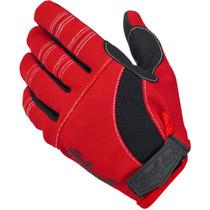 Biltwell Moto Gloves - Red / Black / White