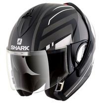 Shark Evoline S3 Corvus Mat Helmet - Matt Black / White