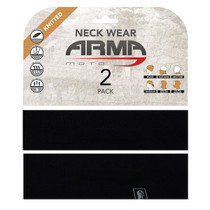 ARMR Moto Neck Tube 2 Pack - Black