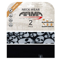 ARMR Moto Neck Tube 2 Pack - Skulls