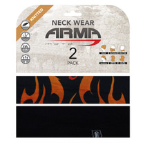 ARMR Moto Neck Tube 2 Pack - Flame