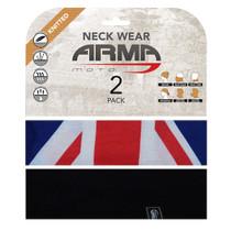 ARMR Moto Neck Tube 2 Pack - Union Jack