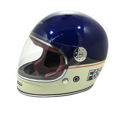 Viper F656 Vintage Helmet - Blue / Cream