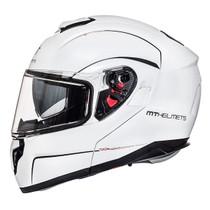 MT Atom Flip Front Helmet - White