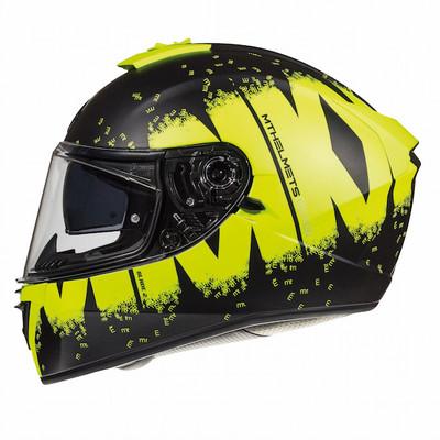 MT Blade 2 SV Oberon Helmet - Matt Black / Yellow