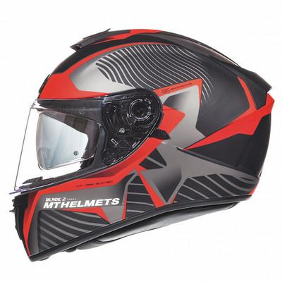 MT Blade 2 SV Blaster Helmet - Matt Black / Red