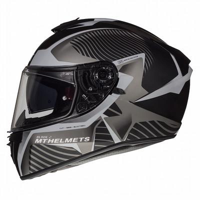 MT Blade 2 SV Blaster Helmet - Matt Black / Grey