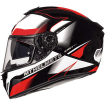 MT Blade 2 SV Fugue Helmet - White / Red