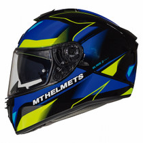MT Blade 2 SV Fugue Helmet - Blue / Yellow
