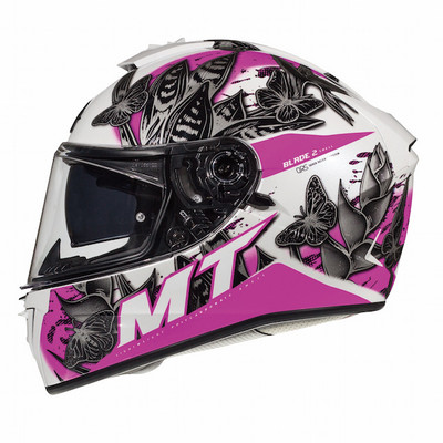 MT Blade 2 SV Breeze Helmet - White / Pink