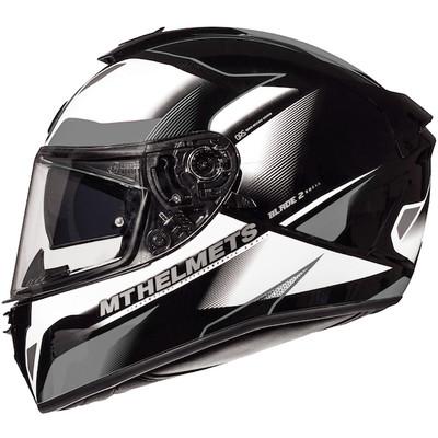 MT Blade 2 SV Fugue Helmet - White / Grey