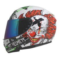 MT Rapide Bad Clown Helmet - White / Red / Green