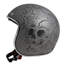 MT Le Mans 2 SV Skull and Roses Helmet - Matt Grey