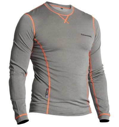 Halvarssons Light Wool Sweater Top - Grey