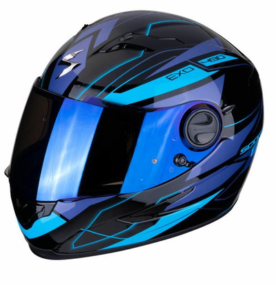 Scorpion EXO 490 Nova Helmet - Black / Blue