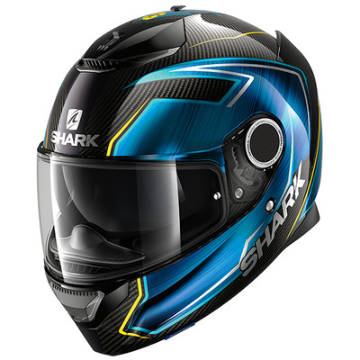 Shark Spartan Carbon Guintoli Helmet - Black / Blue / Yellow