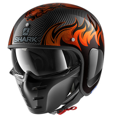 Shark S-Drak Carbon Dagon Helmet - Black / Orange