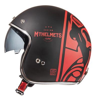 MT Le Mans 2 SV Divenire Helmet - Matt Black / Red