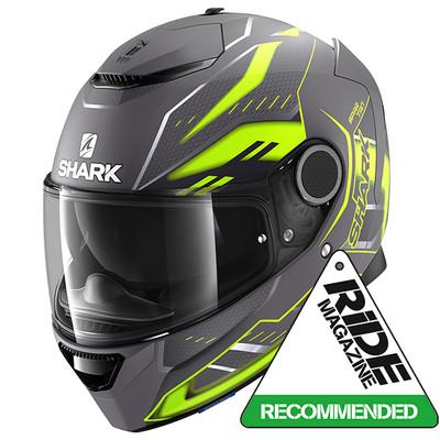 Shark Spartan Antheon Helmet - Matt Anthracite / Yellow