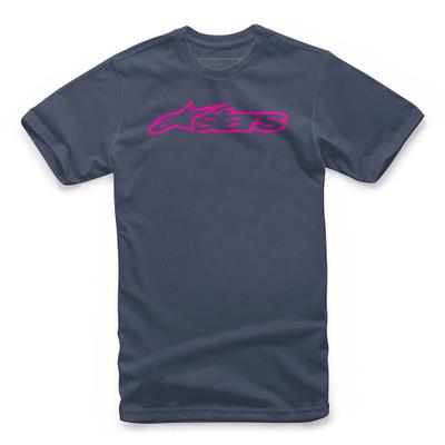 Alpinestars Blaze Classic Tee - Navy / Pink