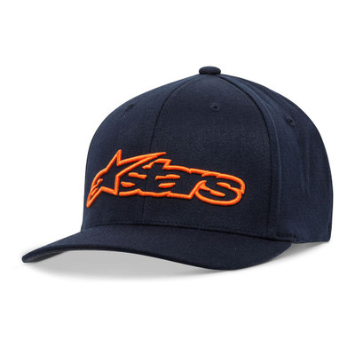 Alpinestars Blaze Flexfit Hat - Navy / Orange