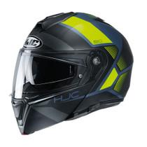 HJC i90 Hollen Flip Front Helmet - Blue / Yellow