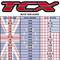 TCX Size Chart