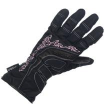 Richa Elegance Ladies Waterproo Textile Gloves - Black / pink