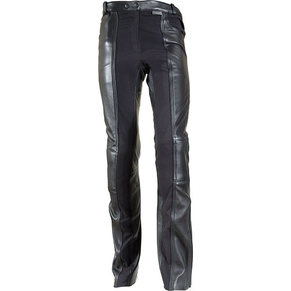 ce6e907a0e Richa Kelly Ladies Leather Motorcycle Trousers - Black