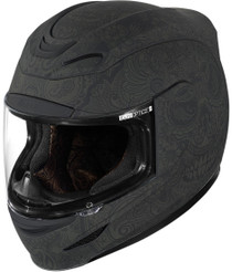 Icon Airmada Chantilly Helmet - Black Rubatone