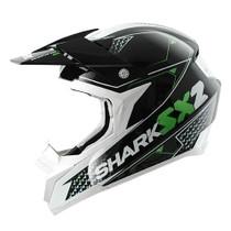 Shark SX2 Kamaboko Helmet - Black / Green / White