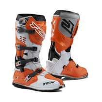 TCX Pro 2.1 Motocross Boots - White / Orange