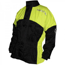 Richa Rain Warrior Waterproof Over Jacket - Black / Flou Yellow