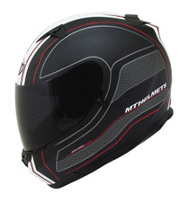 MT Blade SV Race Line Helmet - Matt Black / Red